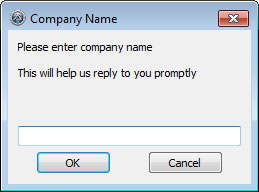 Request company name